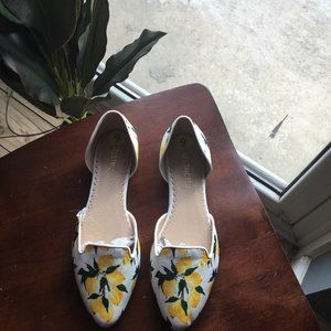 Yellow/lemon D'orsay flats/slip-on. New